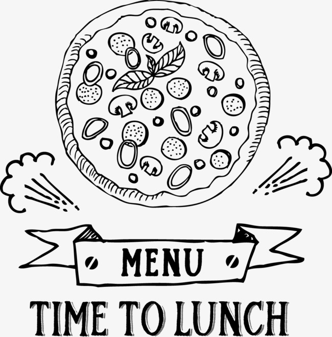 650x659 Pizza Lunch Menu Logo Logo, Pizza Vector, Logo Vector, Menu