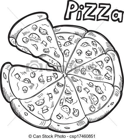421x470 Pizza Doodle.