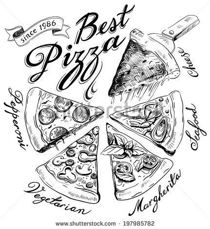 431x470 Pizzas Dibujo A Lapiz