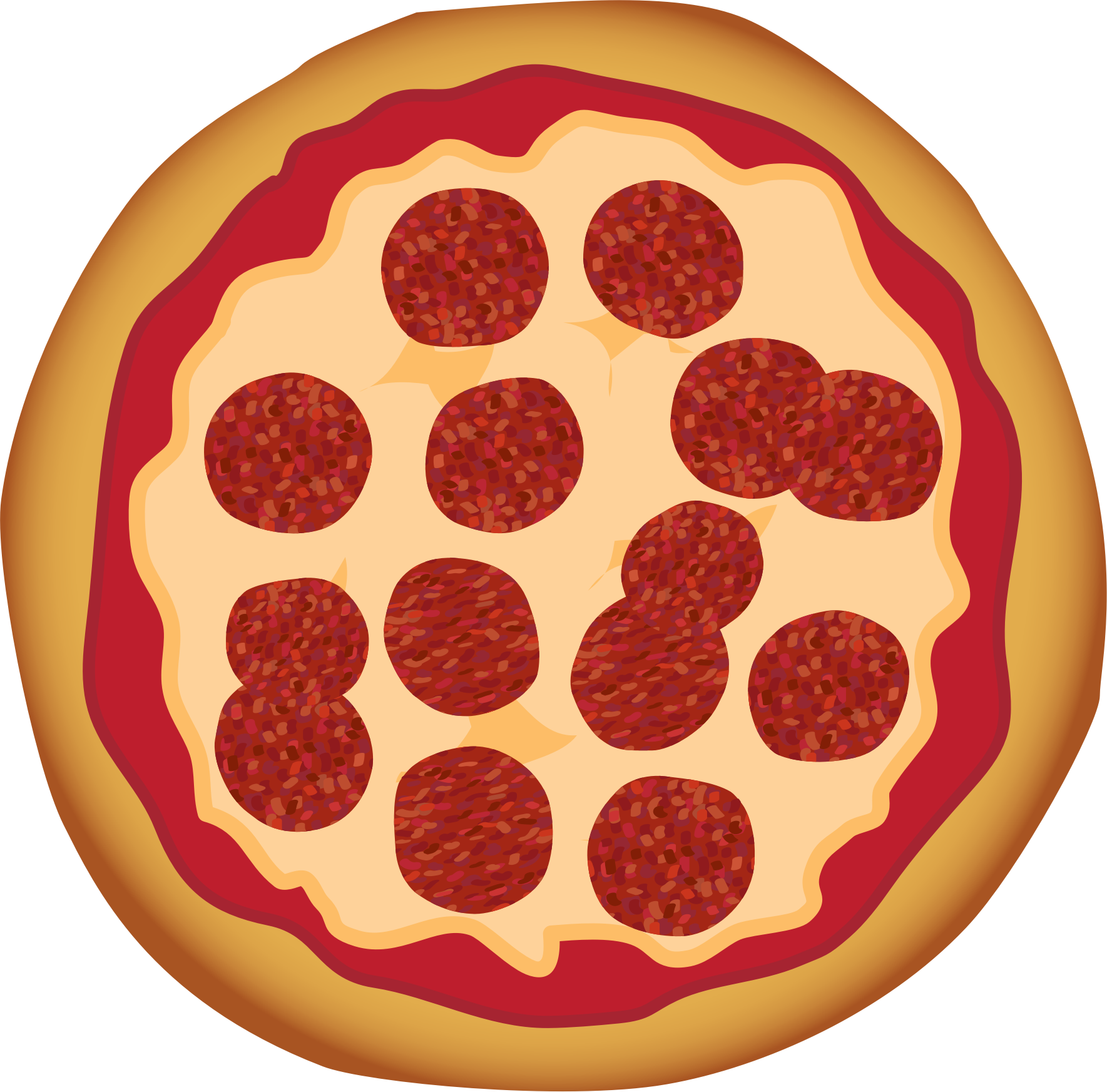 1769x1745 Collection Of Free Pizza Vector Animated. Download On Ubisafe