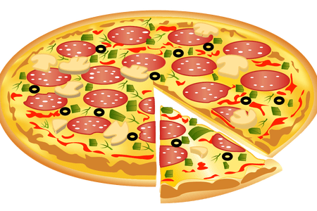 450x300 Collection Of Free Pizza Vector Vegetarian. Download On Ubisafe