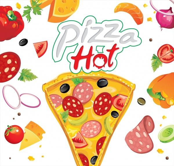 600x573 Delicious Pizza Vector Free Vector In Adobe Illustrator Ai ( .ai