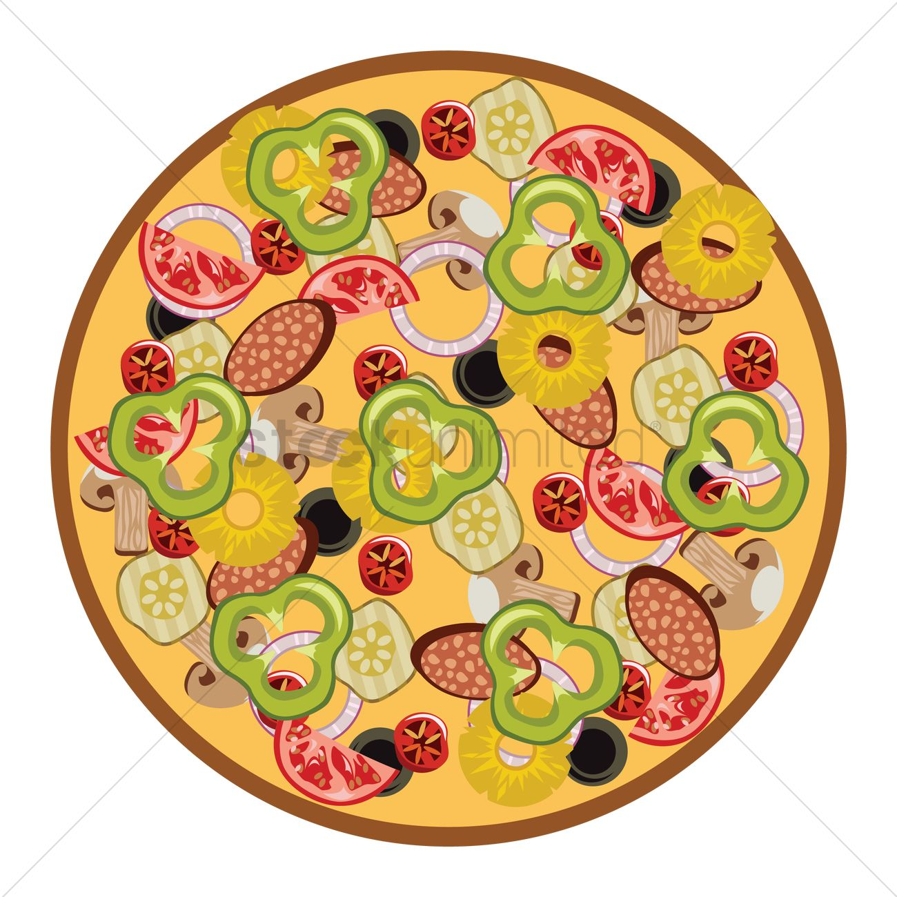 1300x1300 Free Pizza Vector Image