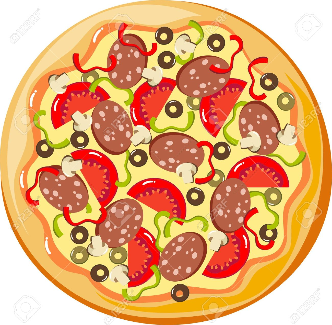 1300x1271 Collection Of Pizza Clipart Vector High Quality, Free