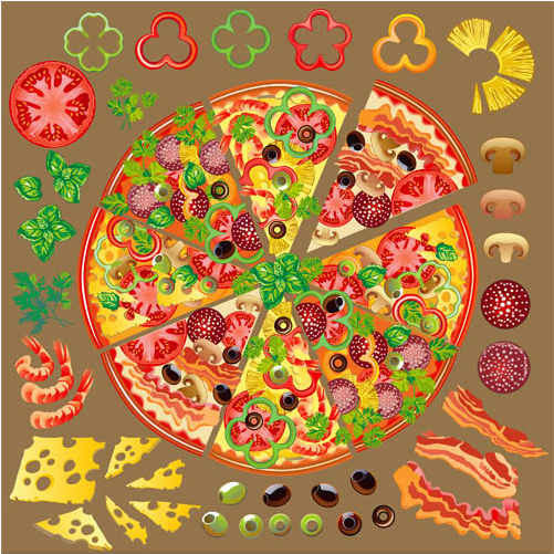 501x501 Pizza Backgrounds Free Vector Ai Format Free Vector Download