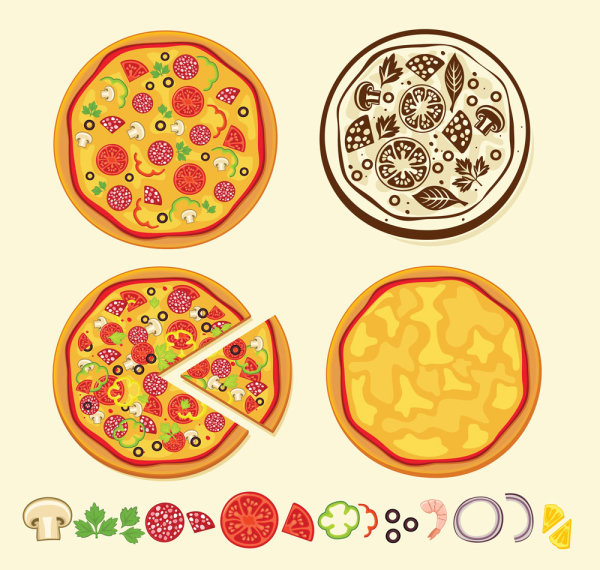 600x570 Pizza Vector Icons Eps Format Free Vector Download