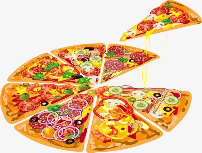 650x492 Vector Sliced U200bu200bpizza, Pizza, Cartoon Pizza, Vector Pizza Png And