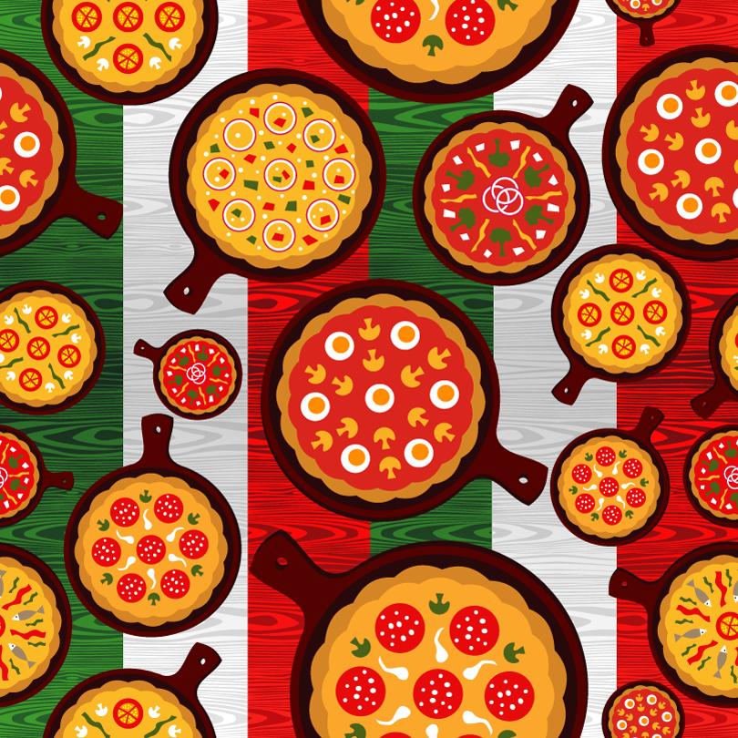 810x810 Cartoon Delicious Pizza Vector Free Vector Graphic Download