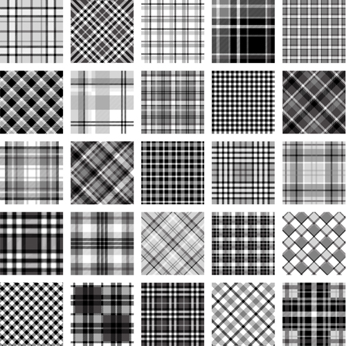 500x500 Plaid Fabric Patterns Seamless Vector 07 Free Download