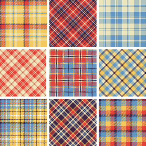 500x500 Plaid Fabric Patterns Seamless Vector 19