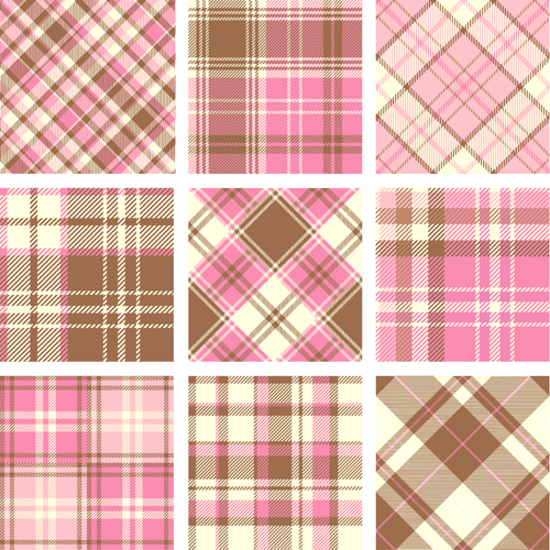 500x500 Plaid Fabric Patterns Seamless Vector 24 Free Download