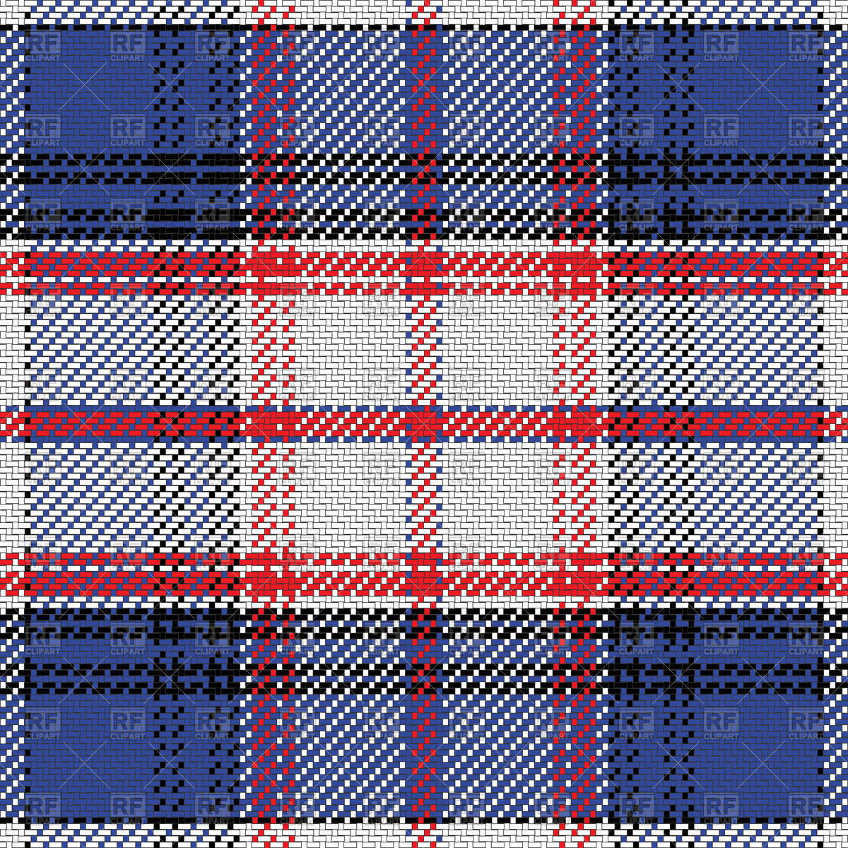 1200x1200 Red And Blue Checkered Plaid Pattern Vector Image Vector Artwork