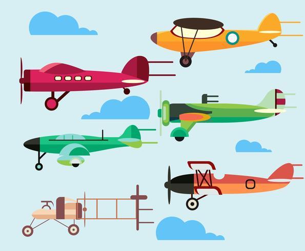 595x490 Cartoon Plane Vector