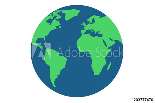 500x334 Planeta Tierra De Color Azul Y Verde.