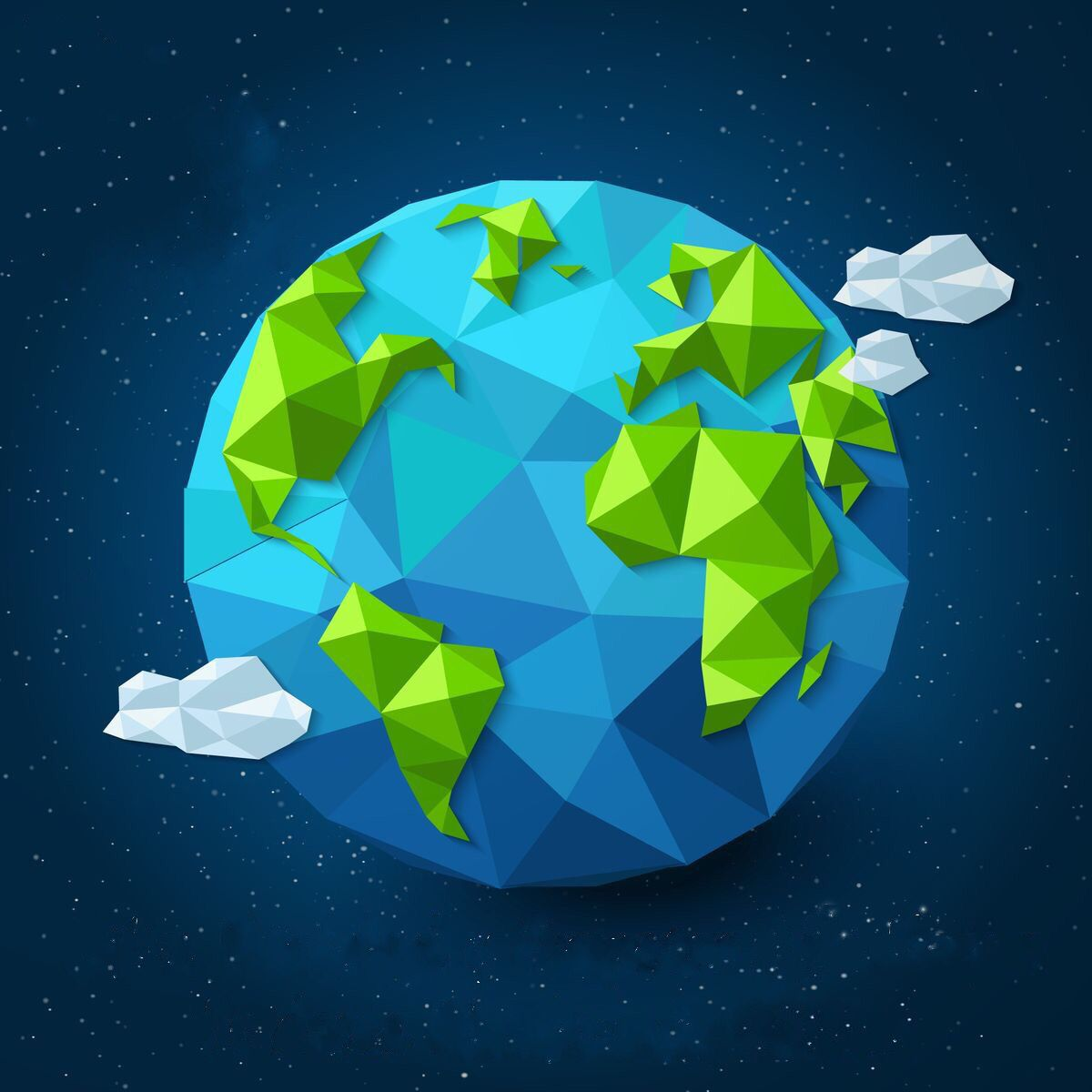 1200x1200 Planeta Tierra De Origami Low Poly In 2018 Low