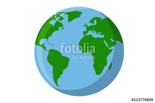 500x334 Planeta Tierra Sobre Fondo Blanco. Stock Image And Royalty Free