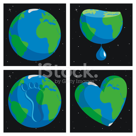 440x440 Del Planeta Tierra Stock Vector