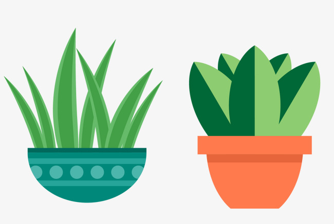 650x437 Flat Vector Green Potted Plant, Green Vector, Plant Vector, Vector