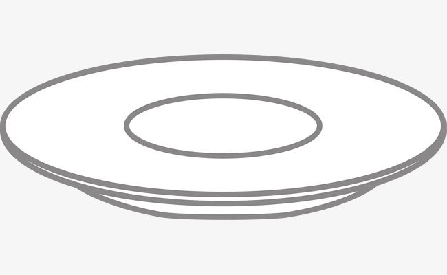 650x400 White Plate Vector, White Plate, Cartoon Hand Painted, Kitchen