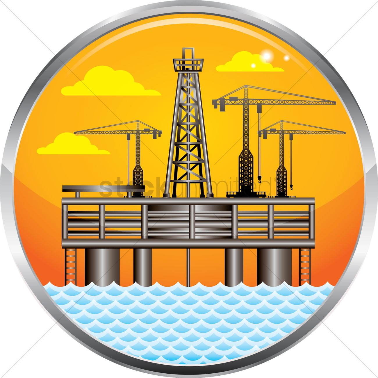 1300x1300 Oil And Gas Platform Vector Image