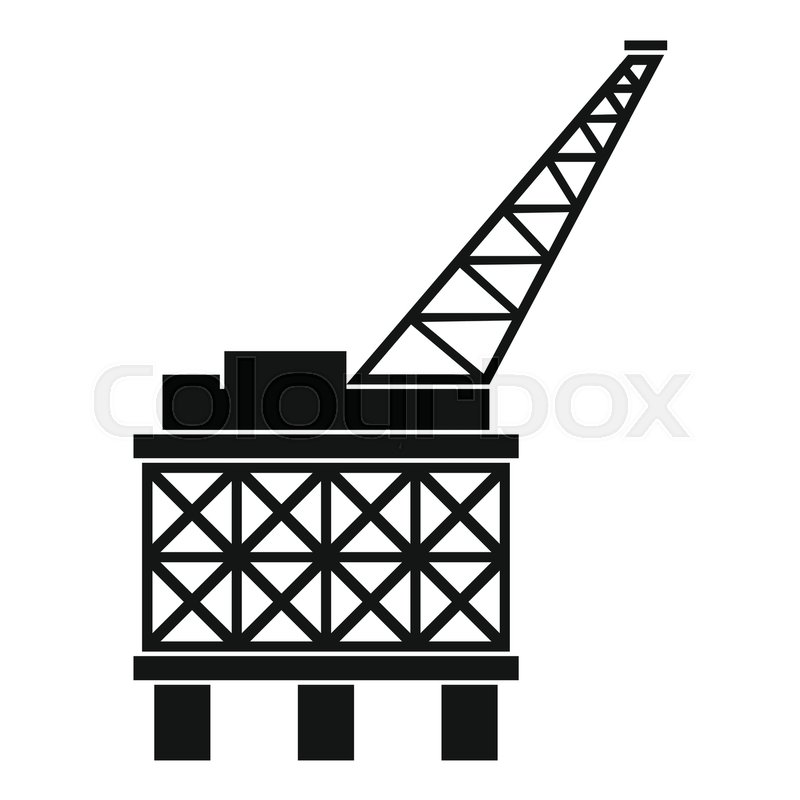 800x800 Oil Platform Icon. Simple Illustration Of Oil Platform Vector Icon