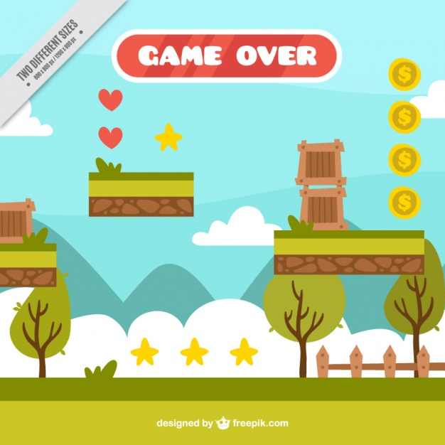 626x626 Platform Game In A Nature Scene Vector Free Download