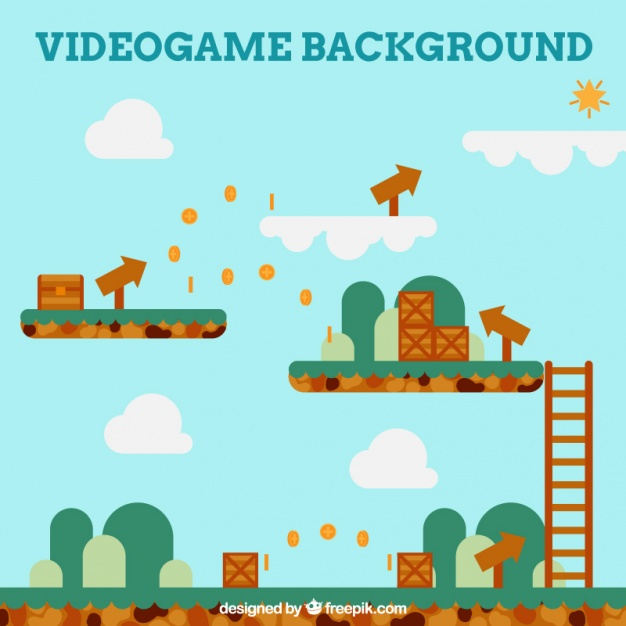626x626 Platform Game With Arrows Vector Free Download