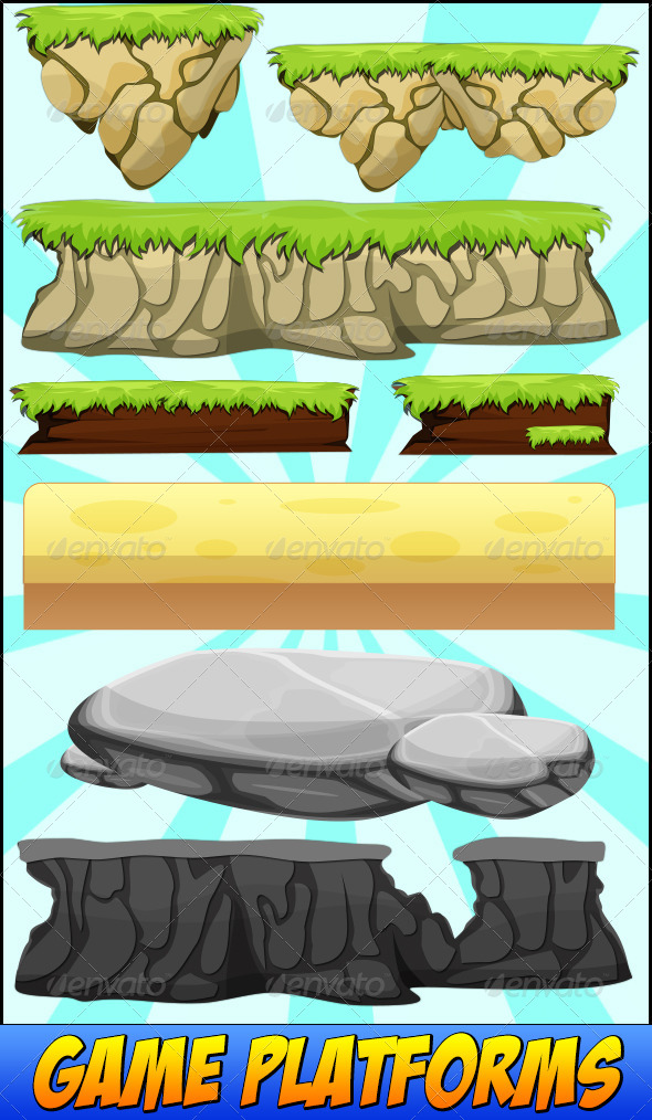 590x1014 Vector Game Platforms By Pettyfaith Graphicriver