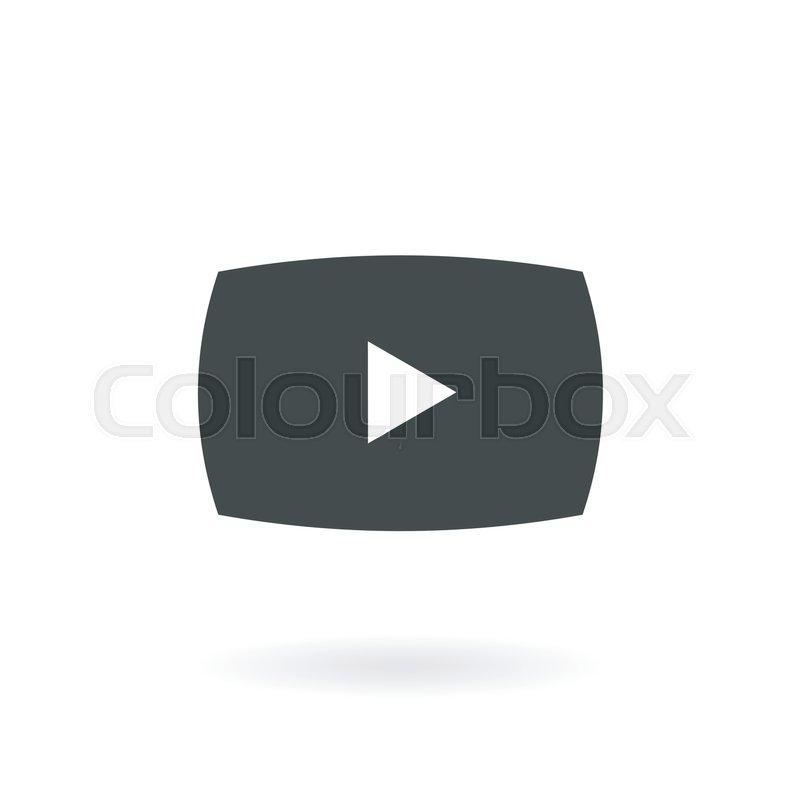 800x800 Play Button Icon , Play Icon Symbol , Vector Stock Vector