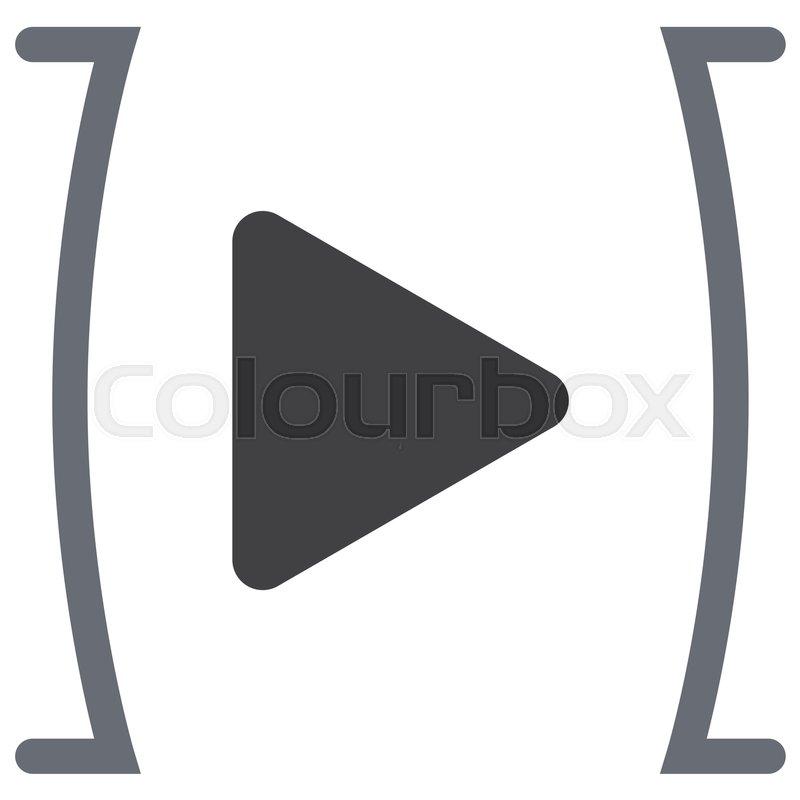 800x800 Play Button Sign Vector Icon. Ui Control Play Button Stock