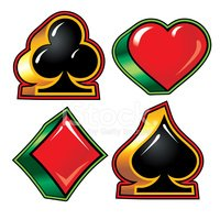 200x200 Playing Card Suits (Vector) Stock Vectors