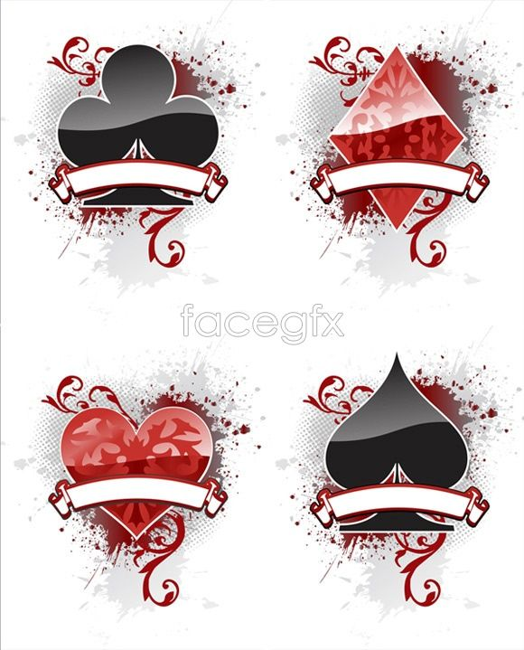 580x719 Playing Card Suit Vector Poker Face Playing Cards