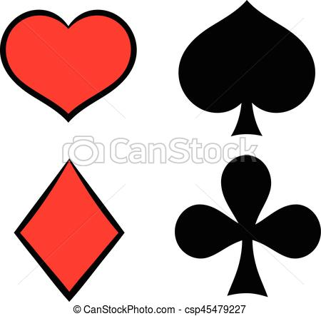 450x443 Playing Card Suit In Black And Red Icon In Icon In Cartoon Style