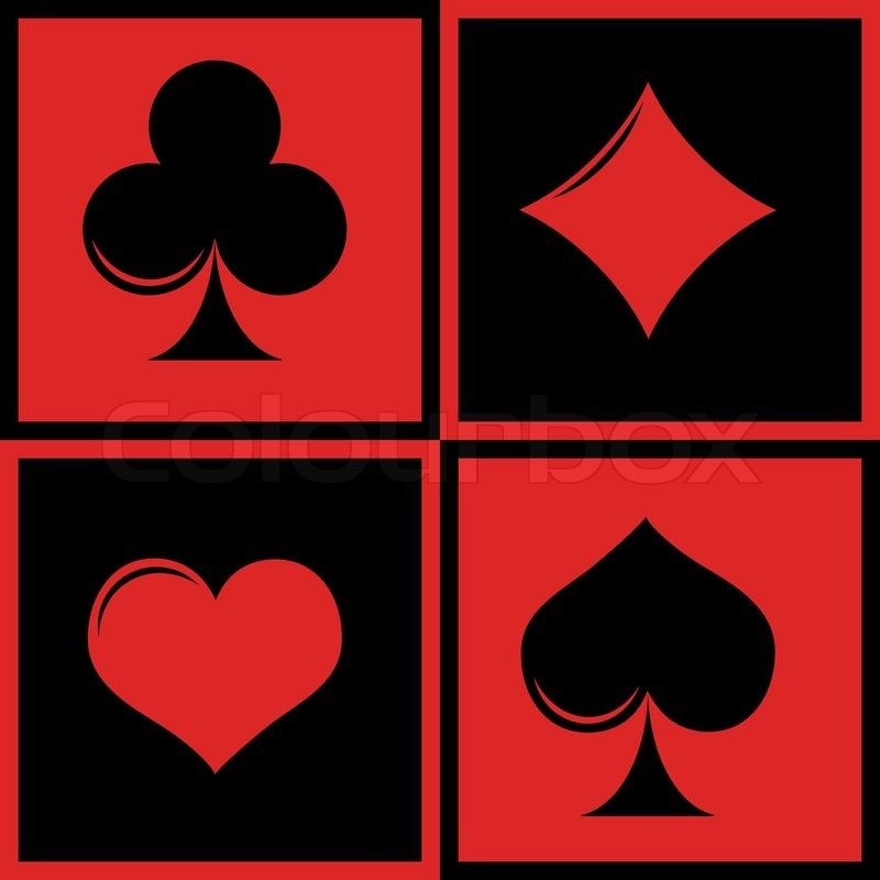 800x800 Playing Card Suits Stock Vector Colourbox
