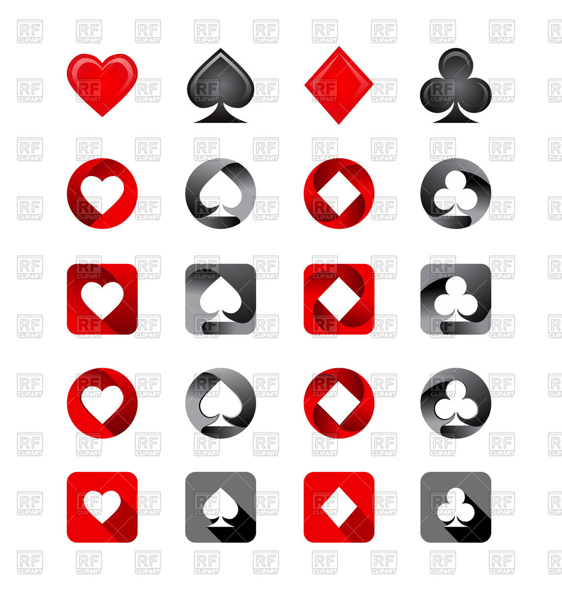 1143x1200 Playing Card Suits Icon Set Vector Image Vector Artwork Of Sport