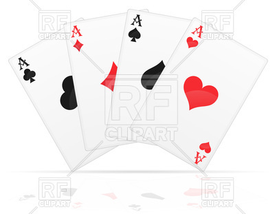 400x311 Playing Cards Aces Of Different Suits Vector Image Vector
