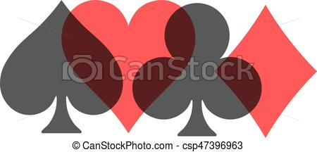 450x216 Poker Card Suits
