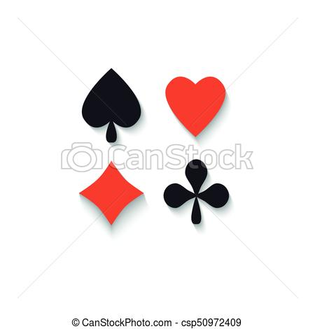 450x470 Set Of Flat Playing Card Suit Signs