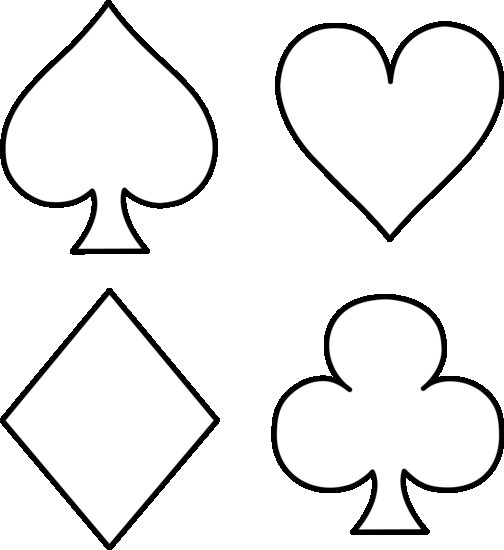 504x550 Stock Vector Playing Cards Suits Spades Hearts Diamonds Clubs