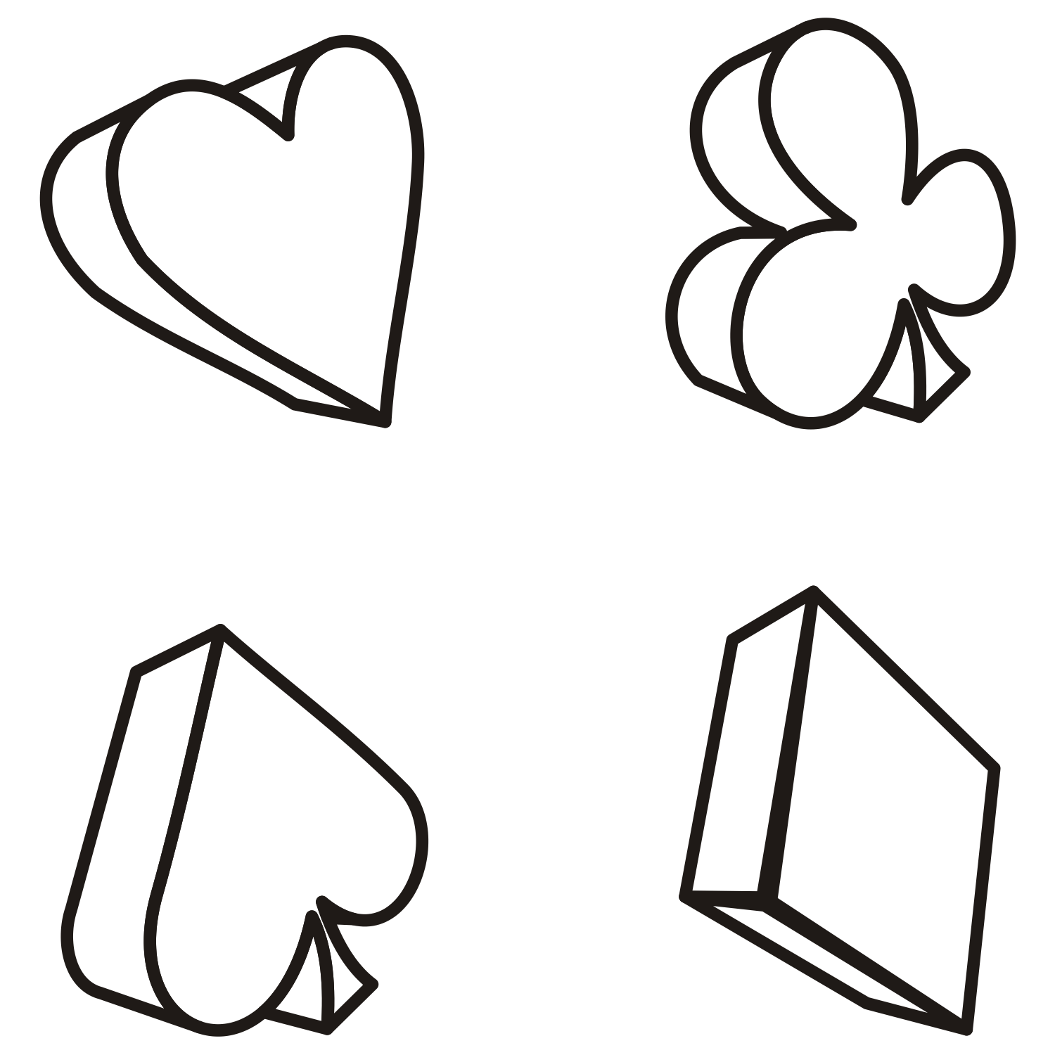 1500x1500 Vector For Free Use Playing Card Suits