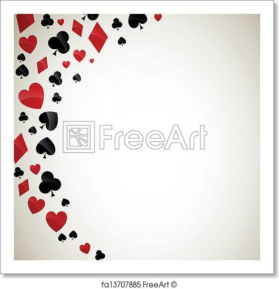 561x581 Free Art Print Of Vector Playing Card Suits. Vector Illustration