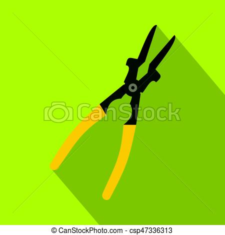 450x470 Metal Welder Pliers Icon, Flat Style. Metal Welder Pliers Icon