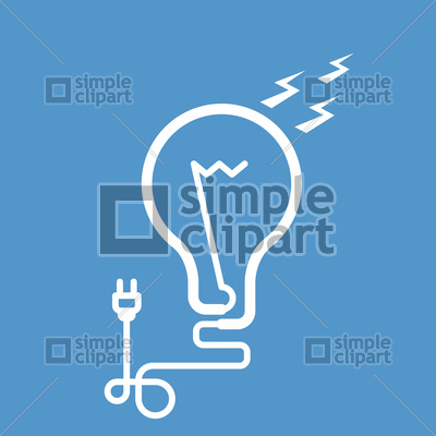 400x400 Symbolic Light Bulb With Cord And Electric Plug Vector Image