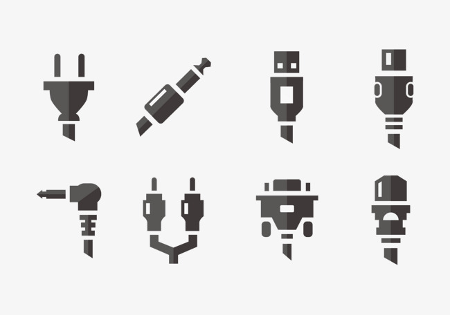 650x456 Various Electrical Plug, Plug, Vector, Black And White Png And