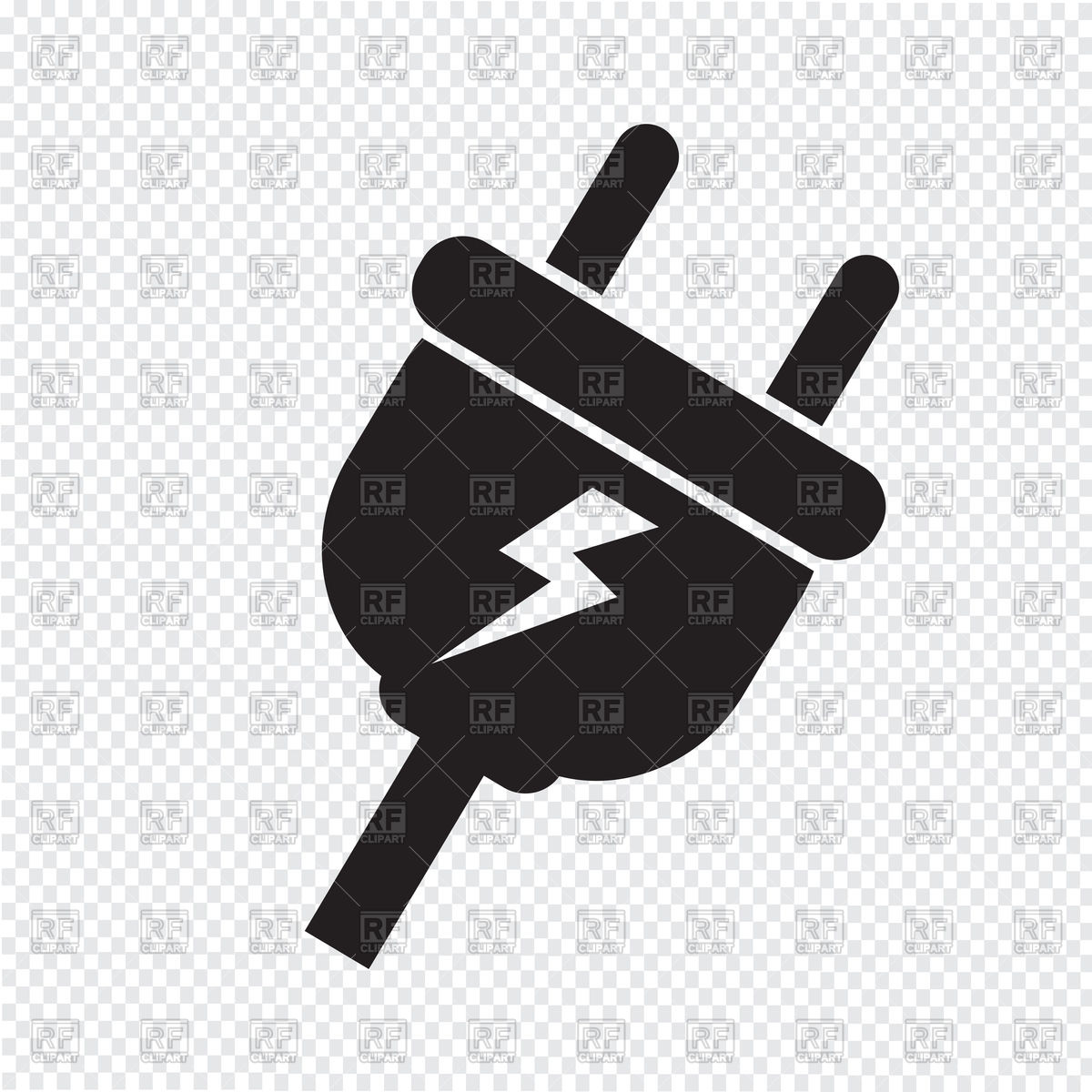 1200x1200 Electric Plug Icon Vector Image Vector Artwork Of Icons And