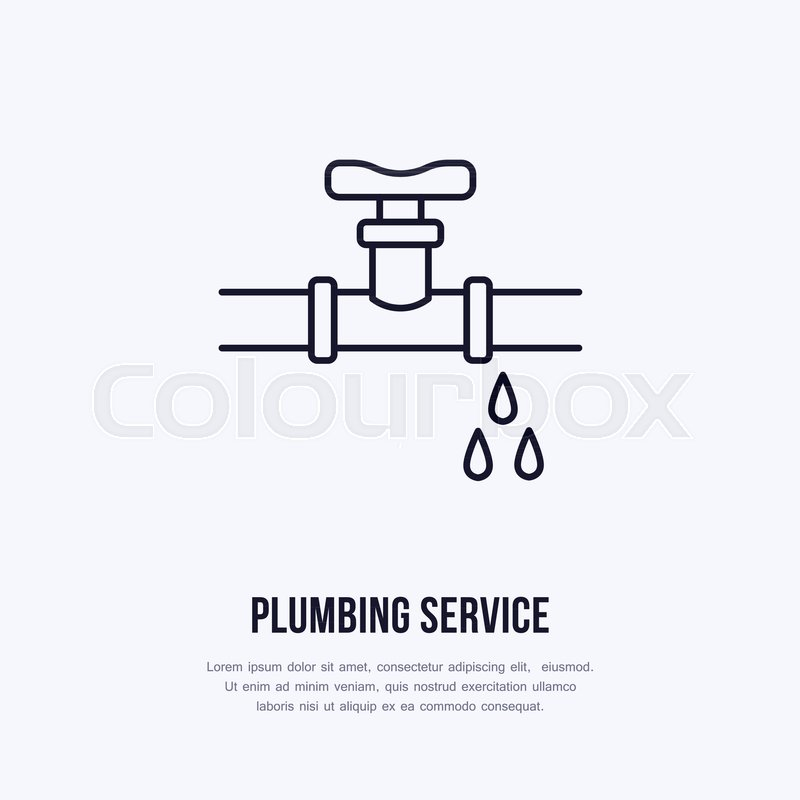 800x800 Leaking Pipe Flat Logo, Line Icon. Pipeline With Water Drops