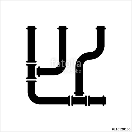500x500 Pipe Icon, Pipe Fitting Icon, Water, Gas, Oil Pipeline, Plumbing