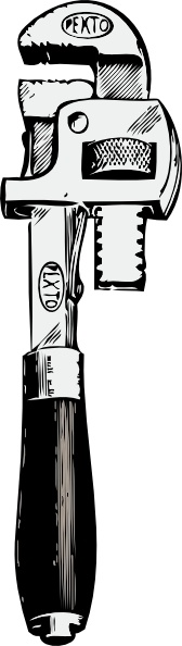 168x594 Pipe Wrench Clip Art Free Vector In Open Office Drawing Svg ( .svg