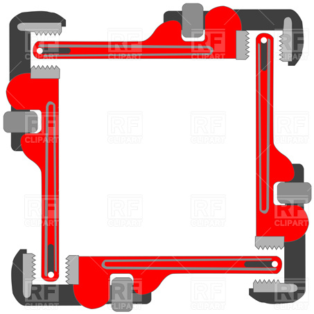 453x453 Pipe Wrench Frame Vector Image Vector Artwork Of Borders And