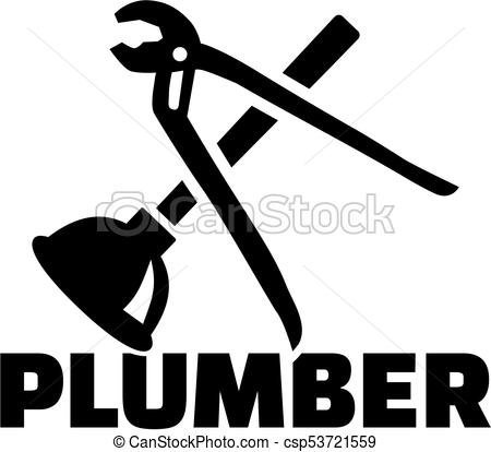 450x414 Plumber With Pipe Wrench Und Plunger.